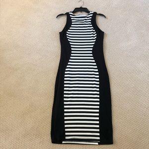 bebe Dresses - Bebe Black & White stretch knit dress